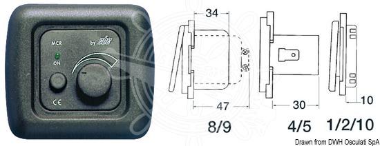 Schema Elettrico Dimmer : Nautica illiano osculati dimmer elettrico w regolazioni luci